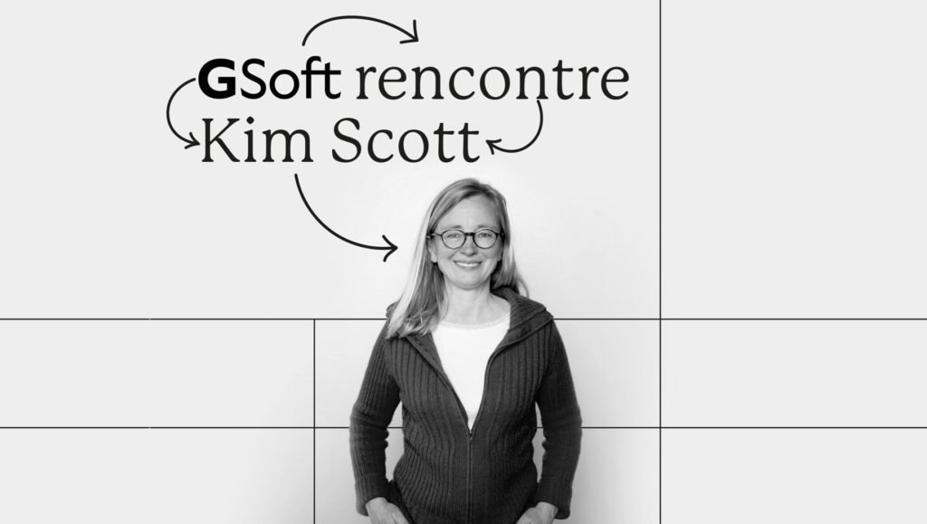 Photo de Kim Scott devant un mur : GSoft rencontre Kim Scott